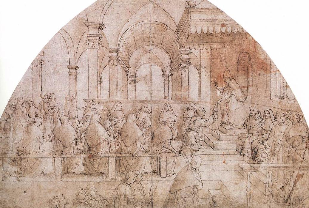 Confirmation of the Rule, Drawing by Domenico Ghirlandaio (1449-1494, Italy)