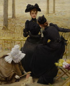 Vittorio Matteo Corcos - Conversations in the Garden of Luxembourg
