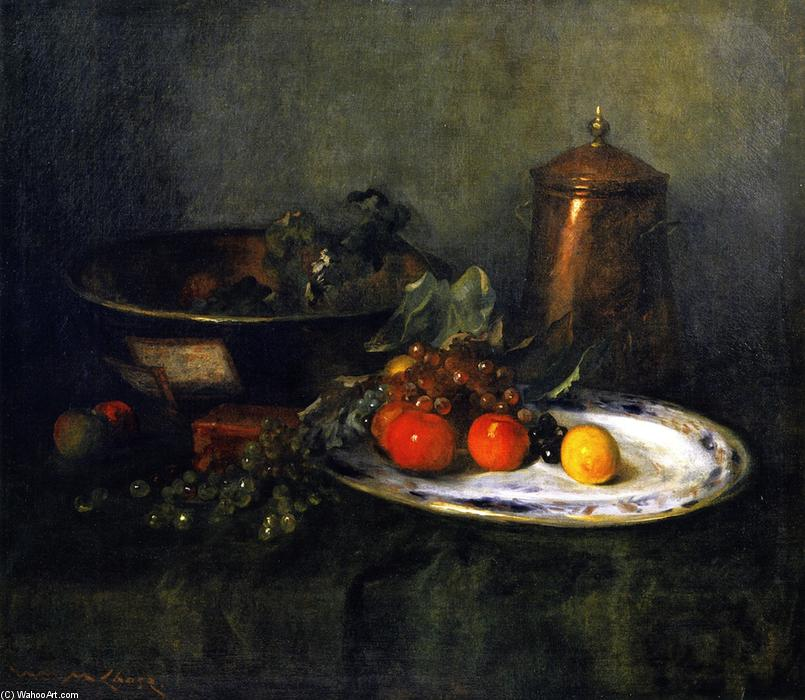 The Copper Urn (also known as Still Life with Copper Urn), Oil On Canvas by William Merritt Chase (1849-1916, United States)