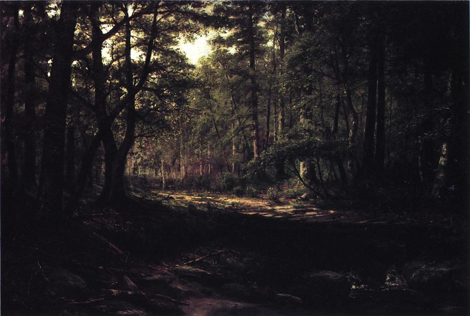 Order Painting Copy : Corduroy Road (also known as Old Road, Scalp Level), 1887 by George Hetzel (1826-1899, France) | ArtsDot.com