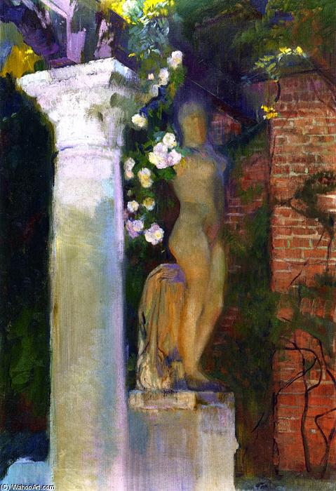 A Corner of the Garden at Casa Sorolla, Oil On Canvas by Joaquin Sorolla Y Bastida (1863-1923, Spain)