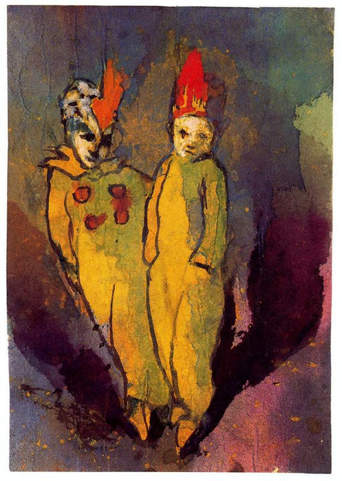 Costumed Couple by Emile Nolde (1867-1956, Germany) | Art Reproduction | ArtsDot.com