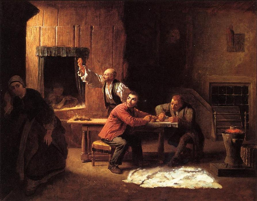 The Counterfeiters, 1853 by Jonathan Eastman Johnson (1824-1906, United Kingdom) | Museum Art Reproductions | ArtsDot.com