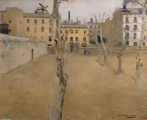 Ramon Casas Carbó - Courtyard of the old Barcelona prison