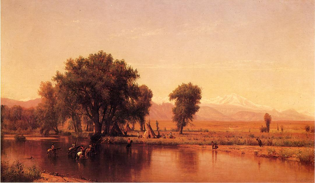 Crossing the Ford (also known as The Plains at the Base of the Rocky Mountain), 1867 by Thomas Worthington Whittredge (1820-1910, United States) | Museum Quality Copies Thomas Worthington Whittredge | ArtsDot.com