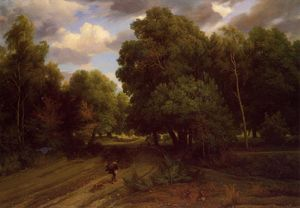 Charles François Daubigny - The Crossroads at the Eag..