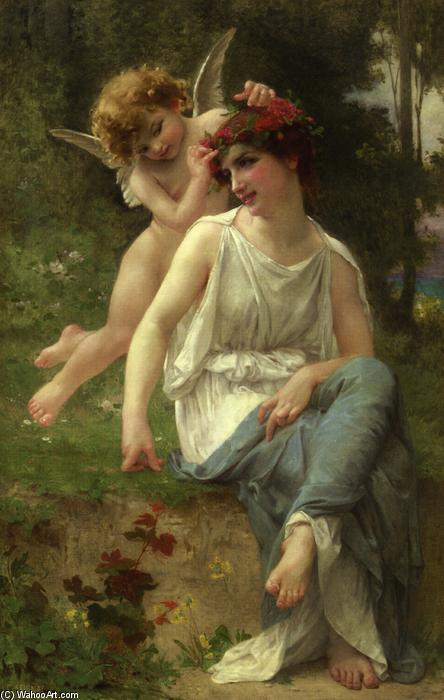 Cupid Adoring a Young Maiden by Guillaume Seignac (1870-1924, France) | Museum Art Reproductions | ArtsDot.com