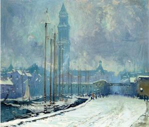 Arthur Clifton Goodwin - Customs House Tower, T-Wharf