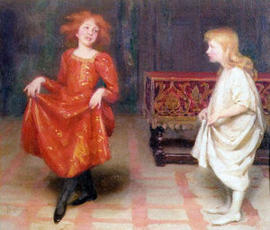 Thomas Cooper Gotch - The Dancing Lesson