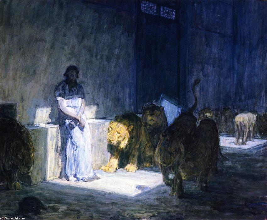 Daniel in the Lions' Den, Painting by Henry Ossawa Tanner (1859-1937, United States)