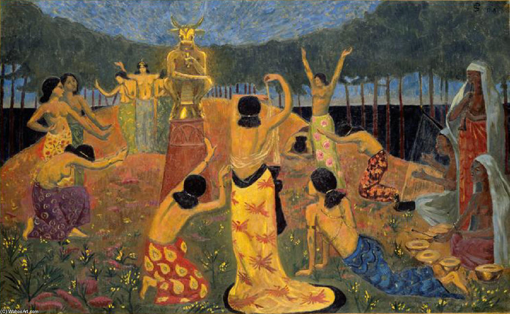 The Daughters of Pelichtim, 1908 by Paul Serusier (1864-1927, France) | Museum Quality Copies Paul Serusier | ArtsDot.com