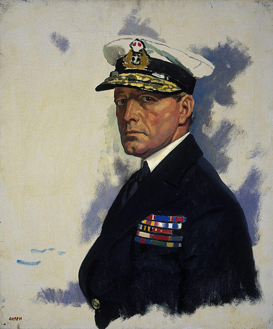 David Beatty, 1st Earl Beatty, Oil On Canvas by William Newenham Montague Orpen (1878-1931, Ireland)
