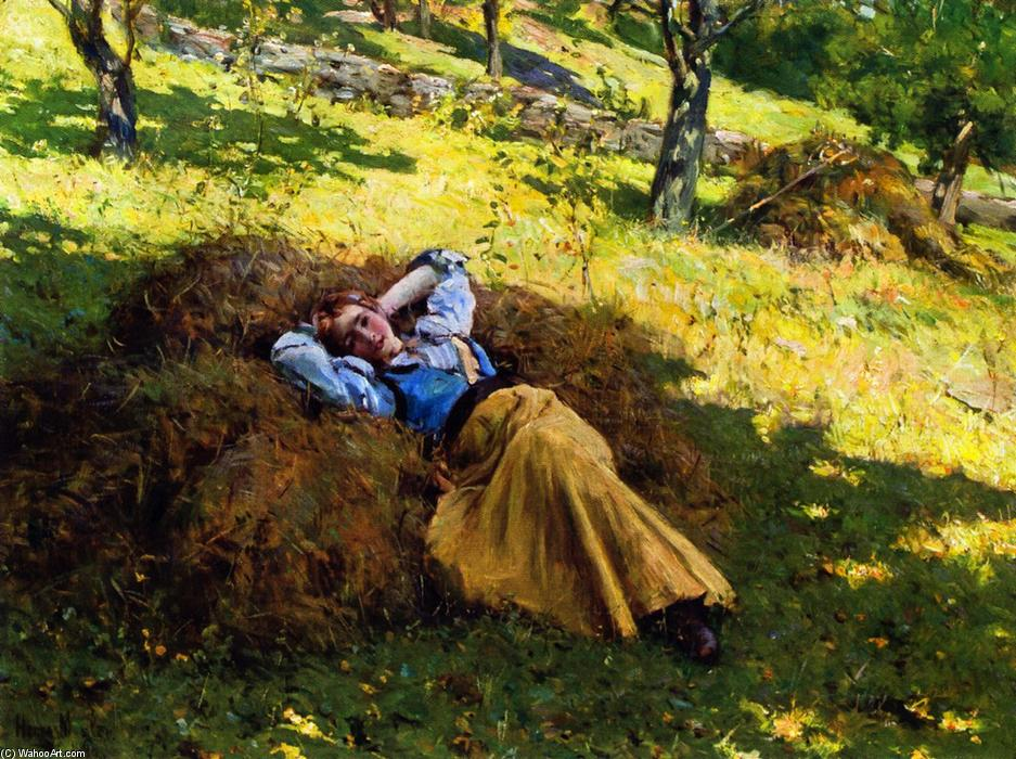 Order Oil Painting : Daydreaming, 1898 by Henry Mosler (1841-1920, Poland) | ArtsDot.com