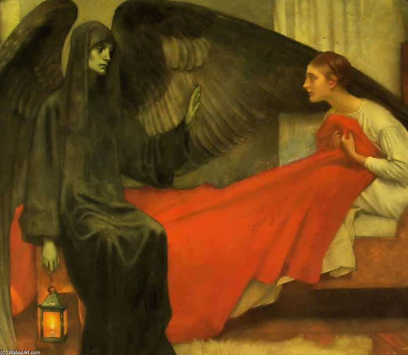 Death and the Maiden, 1872 by Pierre Puvis De Chavannes (1824-1898, France)