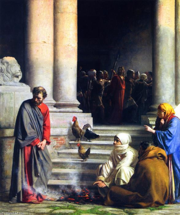 The Denial of Peter, Painting by Carl Heinrich Bloch (1834-1890, Denmark)