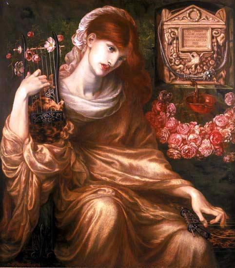 Dis Manibus (also known as The Roman Widow), Oil On Canvas by Dante Gabriel Rossetti (1828-1882, United Kingdom)