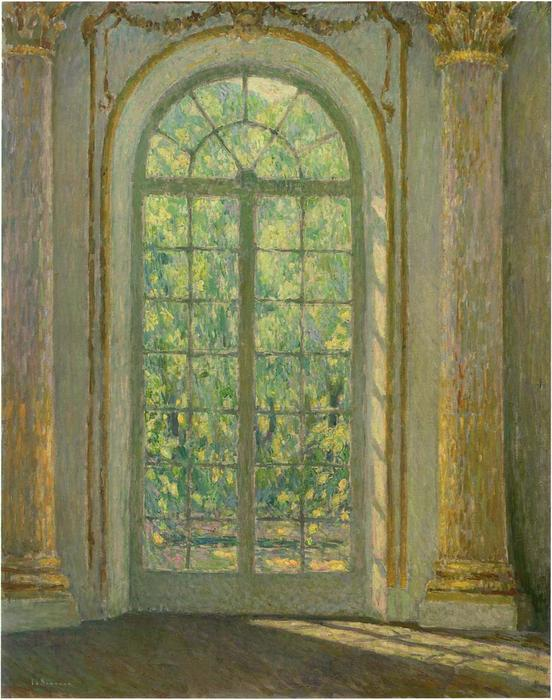 The Door of Spring, Oil On Canvas by Henri Eugène Augustin Le Sidaner (1862-1939, Mauritius)