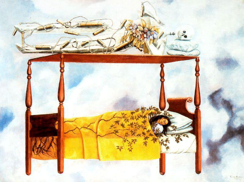 The Dream, Oil On Canvas by Frida Kahlo (1907-1954, Mexico)