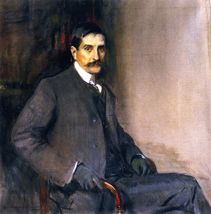 Dr. Francisco Rodríguez de Sandoval, Oil On Canvas by Joaquin Sorolla Y Bastida (1863-1923, Spain)
