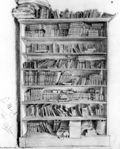 Adolph Menzel - Dr Puhlmann-s Bookcase