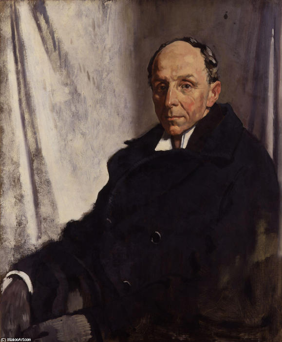 Edgar Algernon Robert Gascoyne Cecil, 1st Viscount Cecil of Chelwood by William Newenham Montague Orpen (1878-1931, Ireland) | Painting Copy | ArtsDot.com