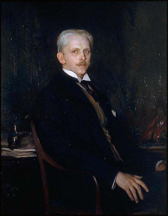 Edward Robinson, Oil On Canvas by Edmund Charles Tarbell (1862-1938, United States)