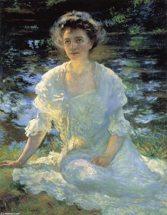 Eleanor Hyde, Oil On Canvas by Edmund Charles Tarbell (1862-1938, United States)