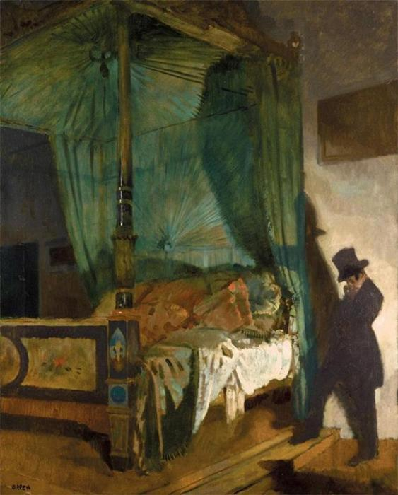 The Empty Bed by William Newenham Montague Orpen (1878-1931, Ireland)
