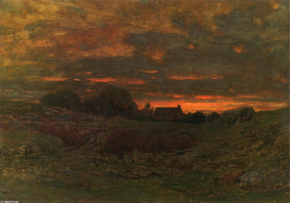End of Day, 1890 by Dwight William Tryon (1849-1925, United States) | Museum Quality Reproductions | ArtsDot.com