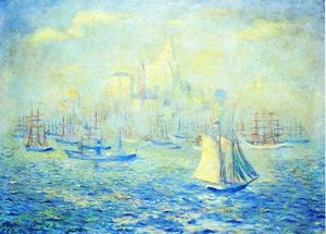 Theodore Earl Butler - Entering New York Harbor