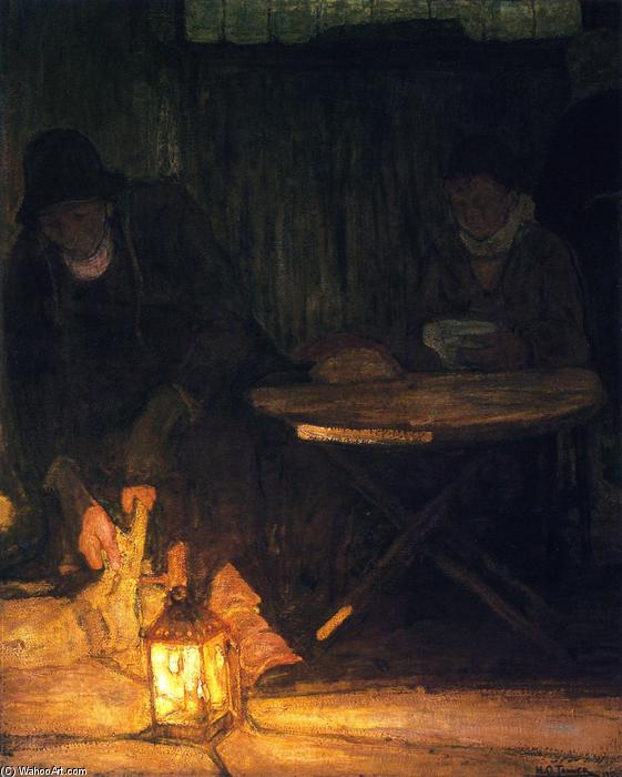 Etaples Fisher Folk, Painting by Henry Ossawa Tanner (1859-1937, United States)
