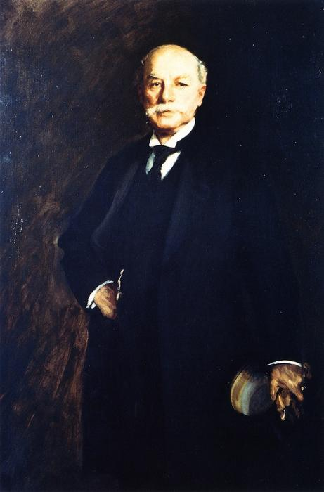 Ethan Allen Hitchcock, Oil On Canvas by William Merritt Chase (1849-1916, United States)