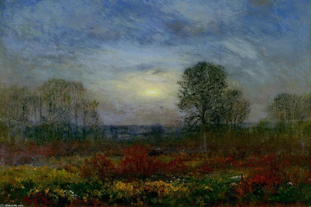 Evening Glow, 1917 by Dwight William Tryon (1849-1925, United States) | Museum Quality Reproductions | ArtsDot.com