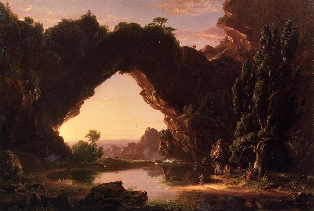 Evening in Arcadia, Oil On Canvas by Thomas Cole (1801-1848, United Kingdom)