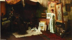 Charles Courtney Curran - Fair Critics