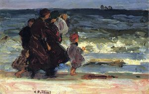 Edward Henry Potthast - A Family at the Beach