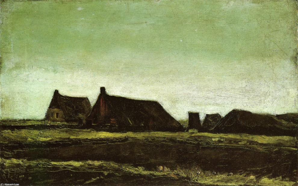 Farms, 1883 by Vincent Van Gogh (1853-1890, Netherlands) | Museum Quality Copies Vincent Van Gogh | ArtsDot.com