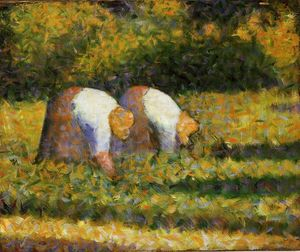 Georges Pierre Seurat - Farm Women at Work