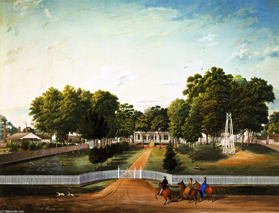 Faye Plantation, 1861 by Marie Adrien Persac (1823-1873, France) | Museum Quality Reproductions | ArtsDot.com