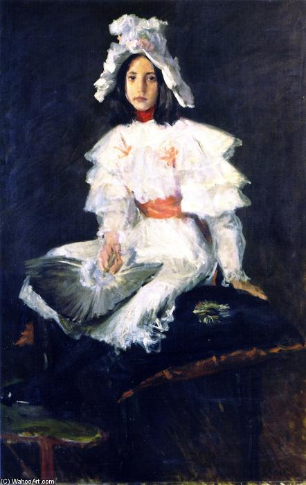 The Feather Fan, Oil On Canvas by William Merritt Chase (1849-1916, United States)