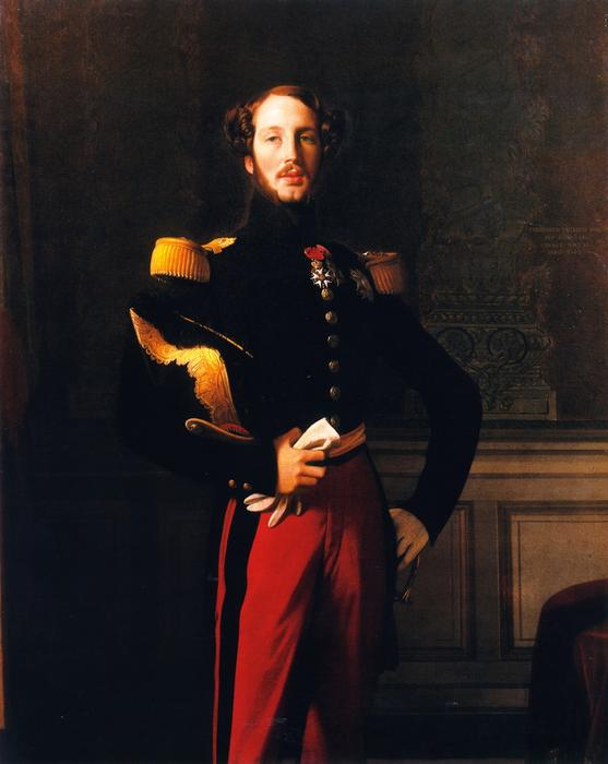 Ferdinand-Philippe-Louis-Charles-Henri, Duc d`Orléans, 1842 by Jean Auguste Dominique Ingres (1780-1867, France) | Paintings Reproductions Jean Auguste Dominique Ingres | ArtsDot.com