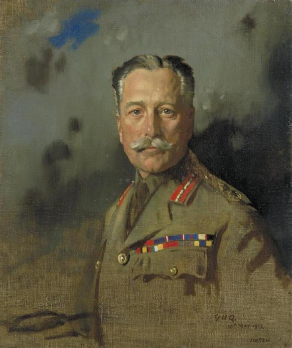 Field-Marshal Sir Douglas Haig, 1917 by William Newenham Montague Orpen (1878-1931, Ireland) | Oil Painting | ArtsDot.com