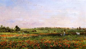 Charles François Daubigny - Fields in the Month of Ju..