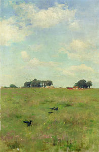 Walter Frederick Osborne - Field with Trees and Sky