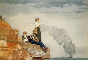 Winslow Homer - Fisherman-s Family (also known as The Lookout)