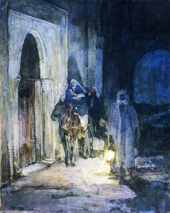 Flight into Egypt, Oil On Canvas by Henry Ossawa Tanner (1859-1937, United States)