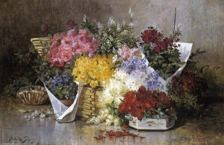 Floral Still Life, 1888 by Abbott Fuller Graves (1859-1936, United States) | Art Reproduction | ArtsDot.com