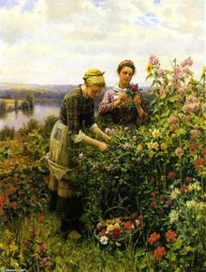 Daniel Ridgway Knight - Flower Girls