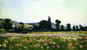 Theodore Wendel - Flowering Fields, Giverny