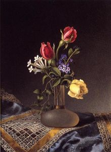 Martin Johnson Heade - Flowers in a Frosted Vase